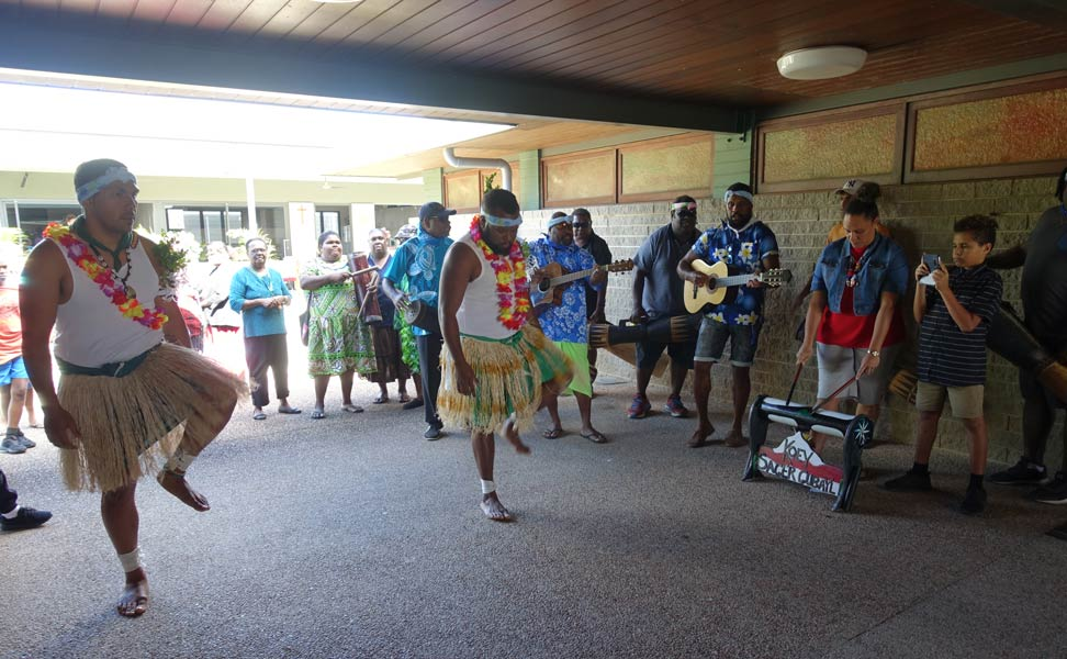 Torres Strait dancers and musicians
